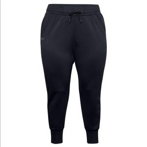 Under armour loose fit joggers, black, size M